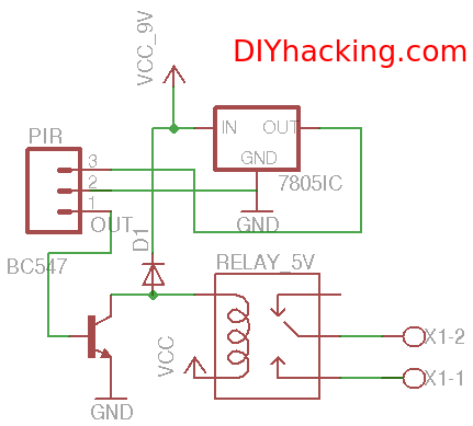 PIRschematic pir motion sensor tutorial automate your home! diy hacking presence detector wiring diagram at eliteediting.co